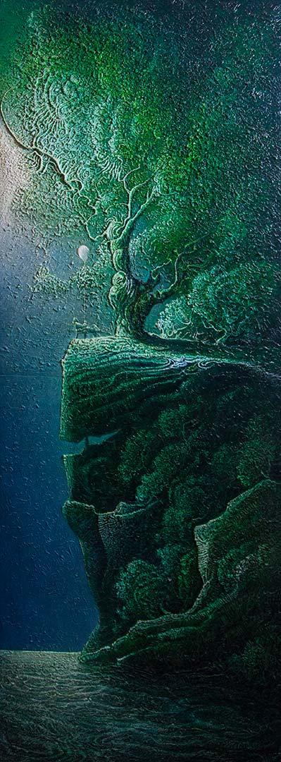 Pensiero aerostatico - OLIO SU TELA, 60x160 cm