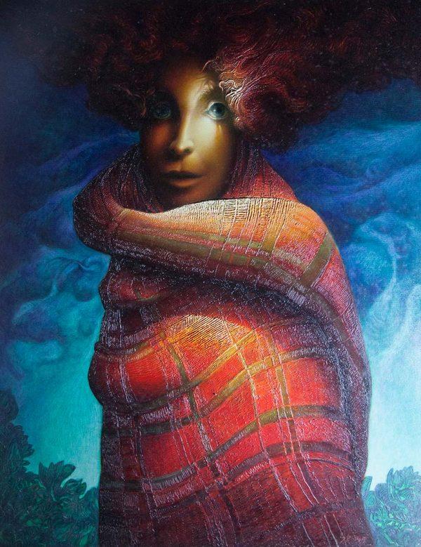 L'ultima rossa - OLIO SU TELA, 70x90 cm