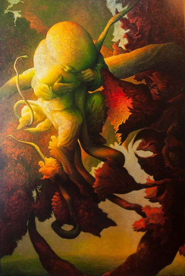Finalmente il frutto - OLIO SU TELA, 100x150 cm