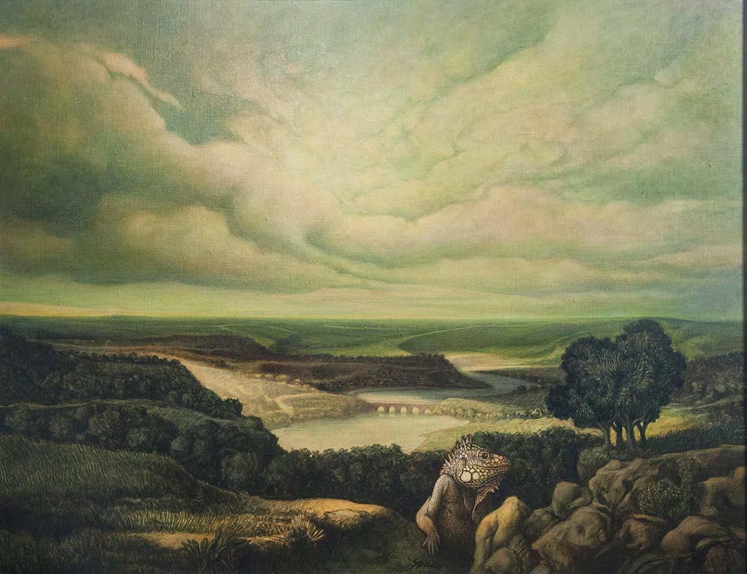 In silenzio con lui – OLIO SU TELA, 90×70 cm