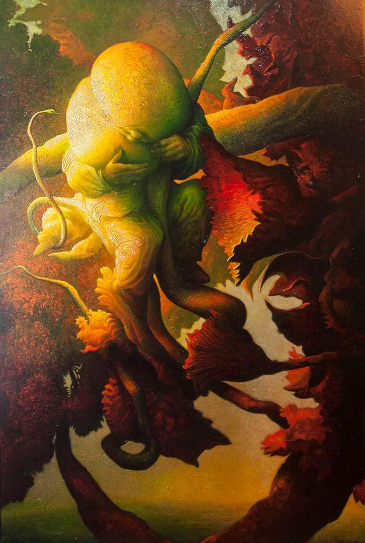 Finalmente il frutto – OLIO SU TELA, 100×150 cm
