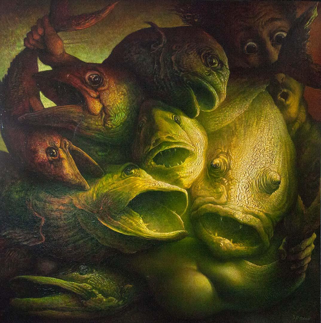 Realta' di un sogno – OLIO SU TELA, 130×130 cm