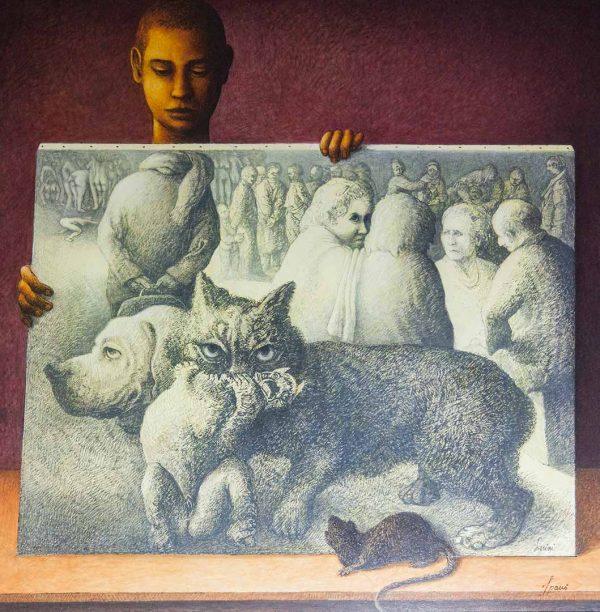 Ritrovarsi - OLIO SU TELA, 100x100 cm